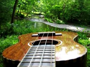 Mya-Moe at the creek in Woodstock